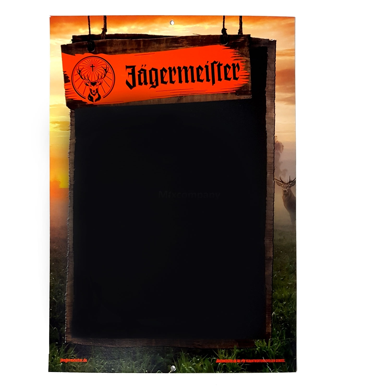 Jägermeister Tafel Werbetafel aus Pappe
