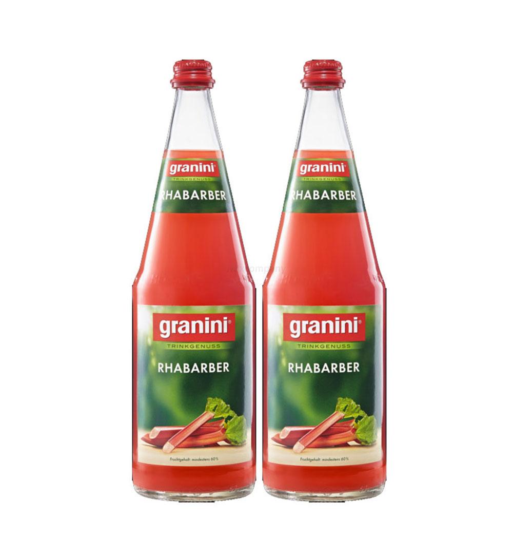 Granini Rhabarber Saft - 2er Set Granini Trinkgenuss - 2x Rhabarber 1L Saft inkl. Pfand MEHRWEG