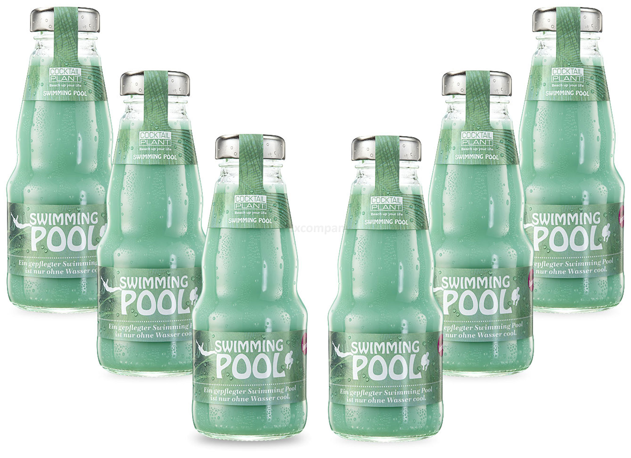 Cocktail Plant Swimming Pool (10,1% Vol) 6x 0,2l = 1,2l - inkl. Pfand MEHRWEG - [Enthält Sulfite]