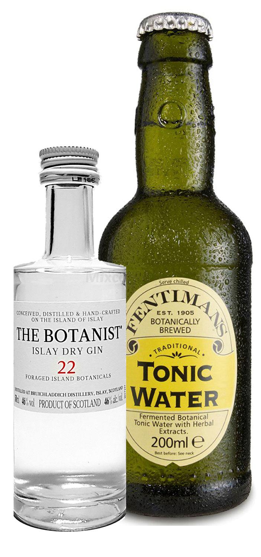 Gin Tonic Probierset - The Botanist Islay Dry Gin 50ml (46% Vol) + Fentimans Tonic Water 200ml inkl. Pfand MEHRWEG