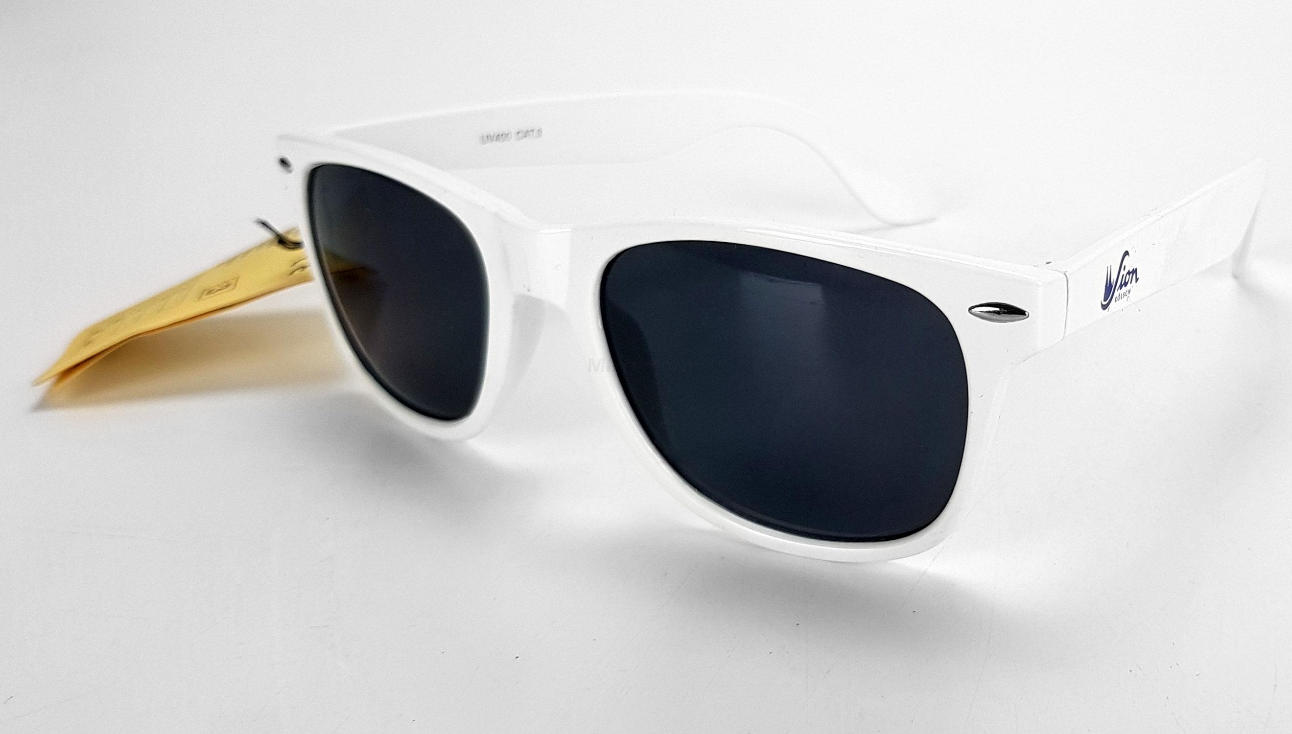 Sion Kölsch Sonnenbrille Nerd Party Brille weiß mit UV 400 Schutz