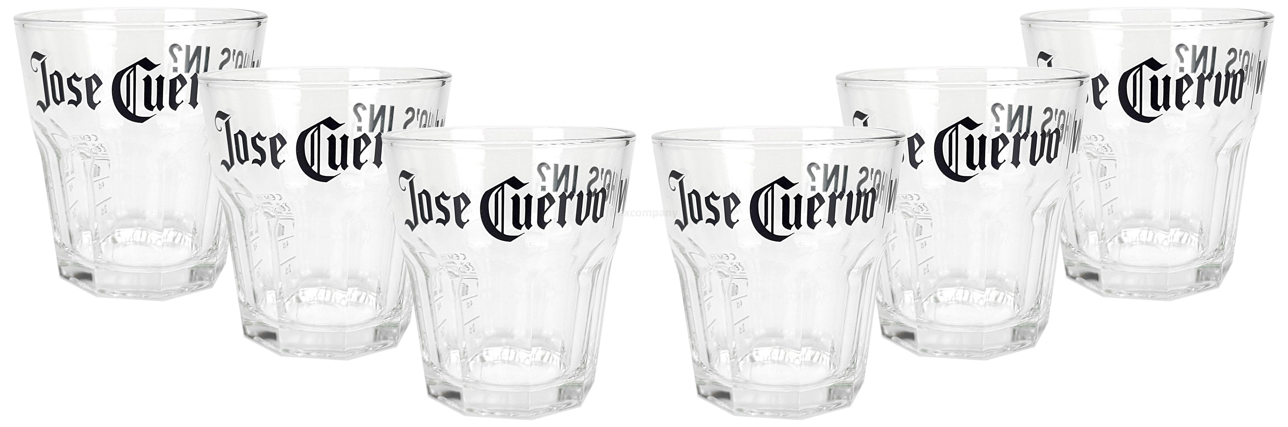 Jose Cuervo Tumbler Glas Gläser Set - 6x Tumblergläser 2/4cl geeicht