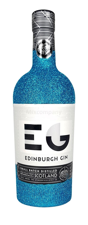 Edinburgh Gin 0,7l 700ml (43% Vol) Bling Bling Glitzerflasche in blau -[Enthält Sulfite]