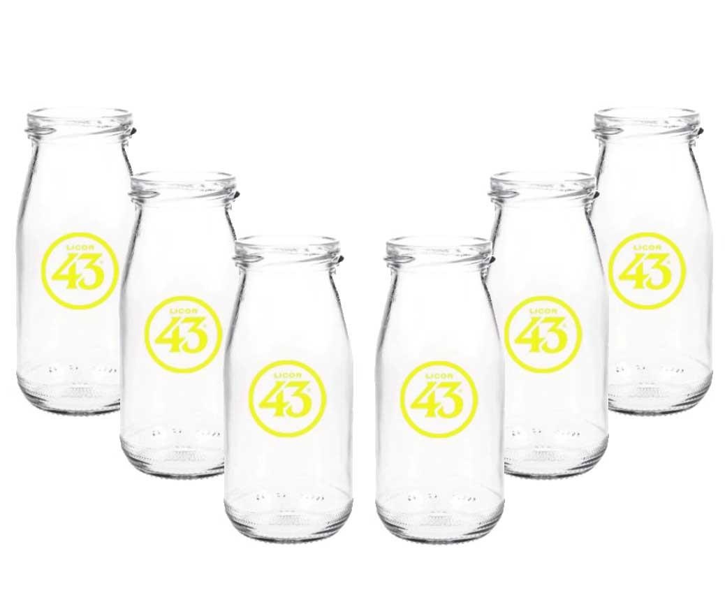 Licor 43 Milchflasche - 6er Set Milchglas Cocktailglas Likör Liquor 43er