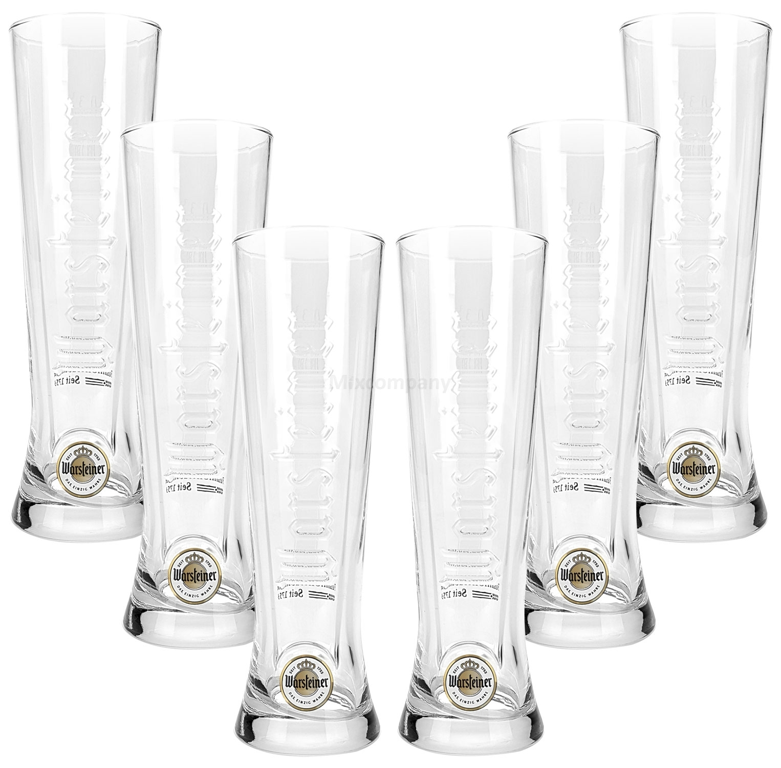 Warsteiner Bier Glas Bierglas Gläser 0,2 l Set - 6 Stück