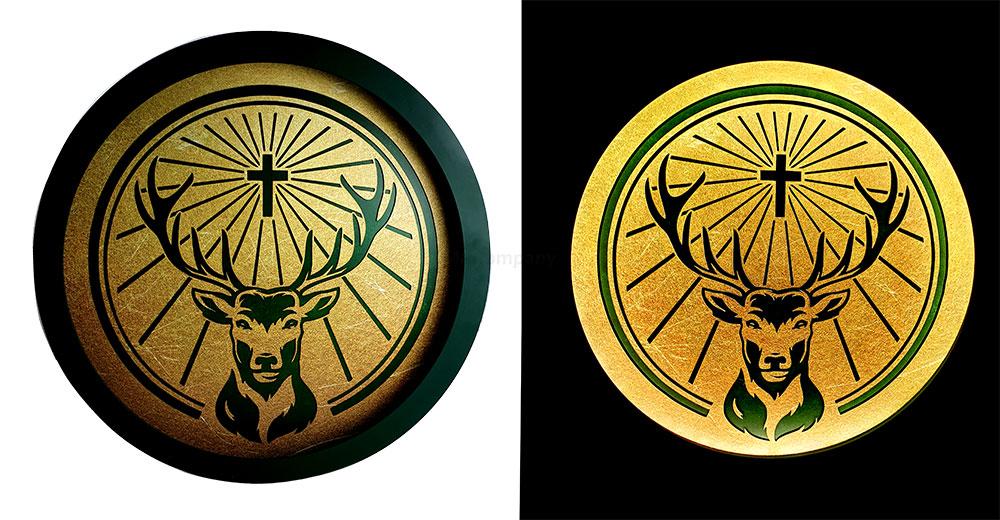 Jägermeister Leuchtschild - Werbeschild / Werbetafel / Leuchtreklame / LED Beleuchtet mit Netzteil