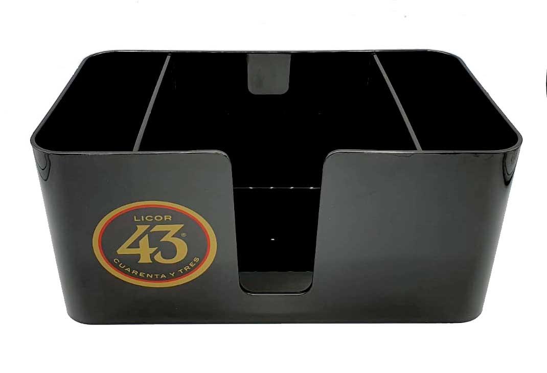 Licor 43 Barcaddy in schwarz Bar Caddy - Barzubehör / Serviettenhalter / Strohhalmhalter Liquor Likör 43