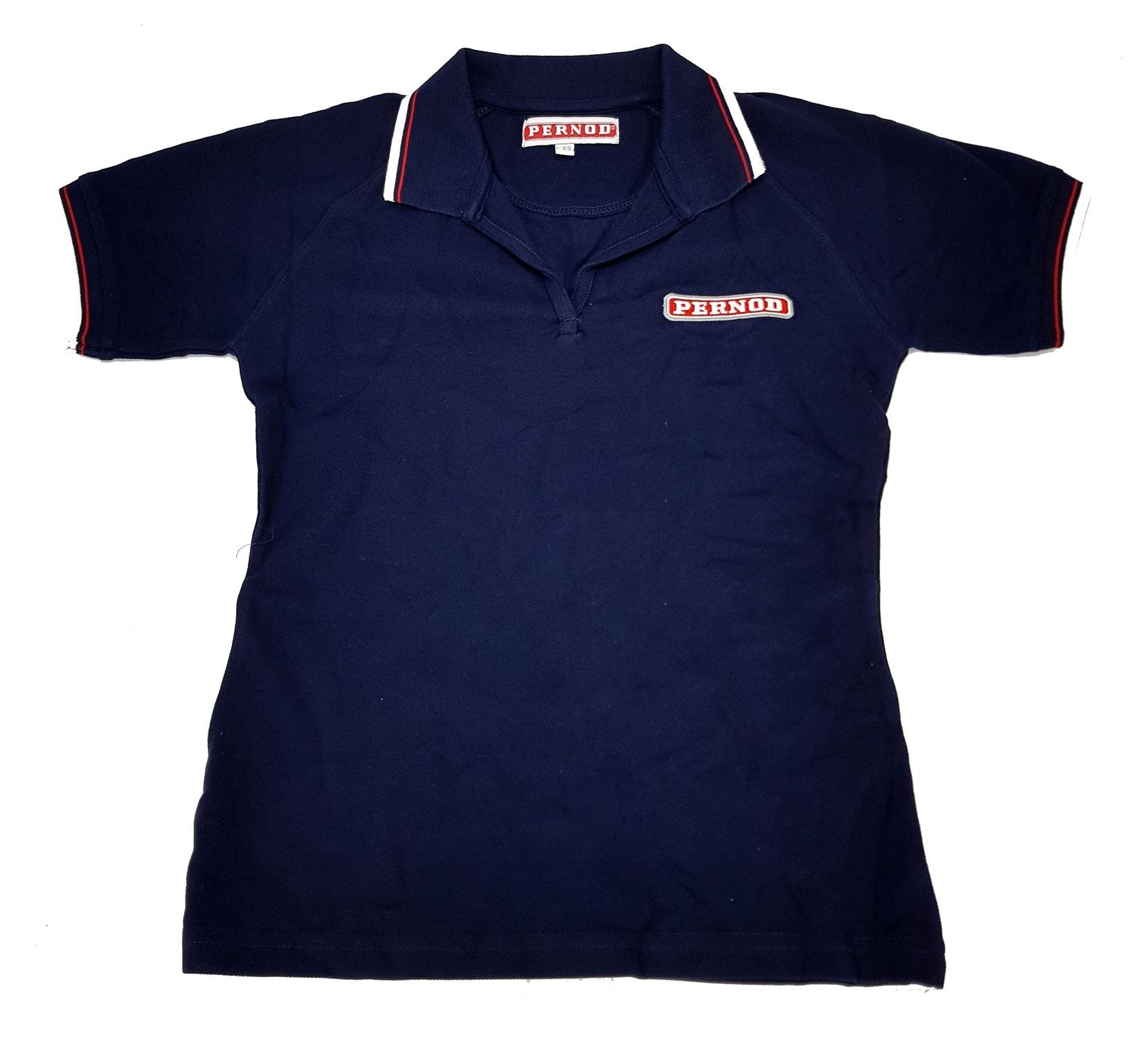 Pernod Poloshirt Polo Shirt Hemd T-Shirt 100% Baumwolle - Blau Größe X/S