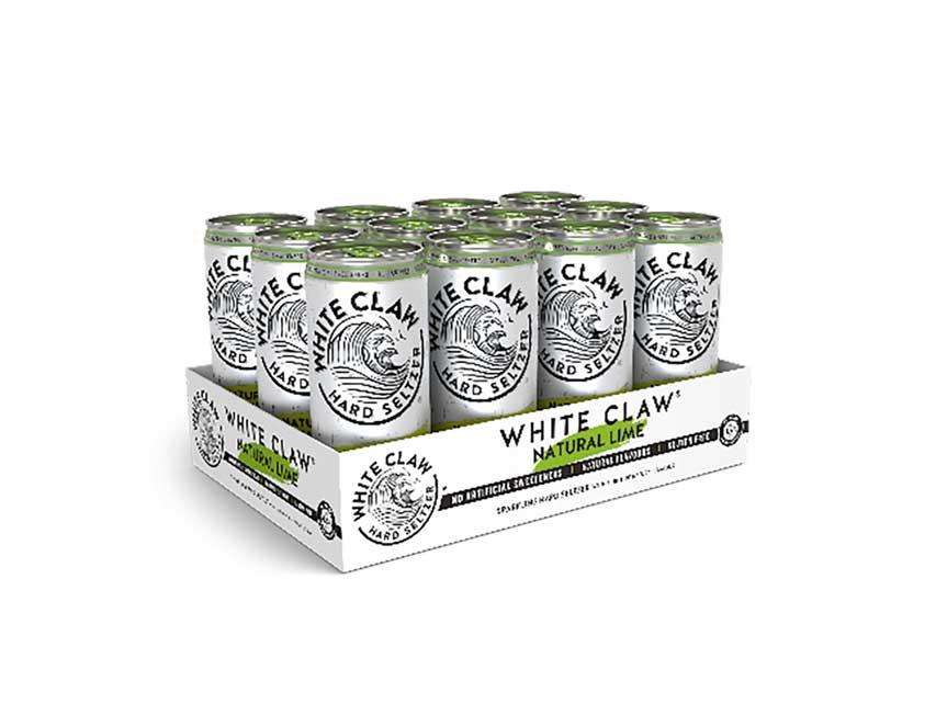 White Claw natural Lime 12er Set je 330ml (4,5% Vol) ready to drink / Longdrink sparkling hard seltzer - [Enthält Sulfite]