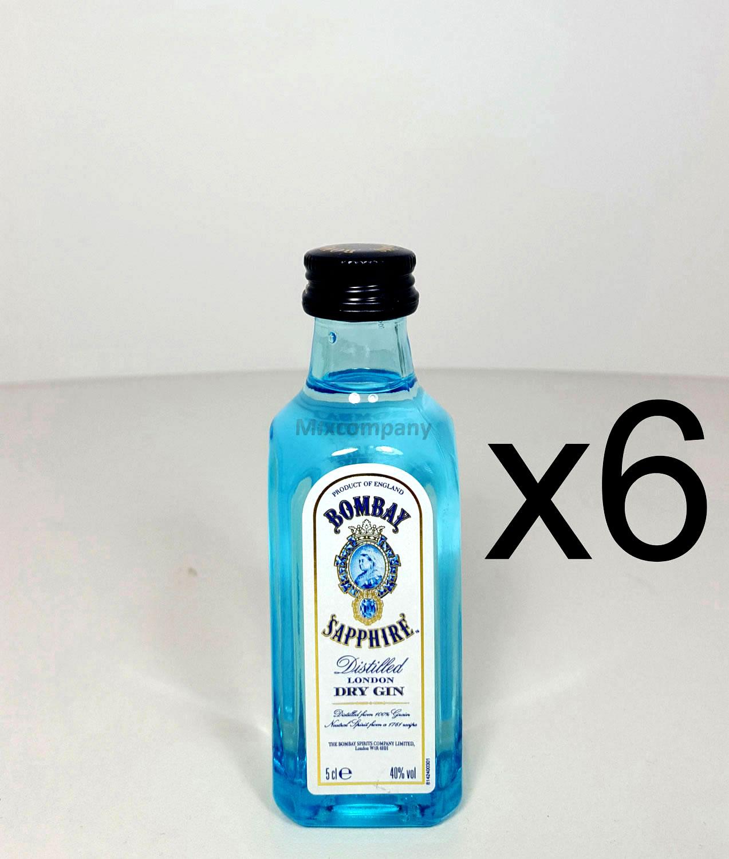 Bombay Sapphire Gin Minis - 6x 50ml (40% Vol)