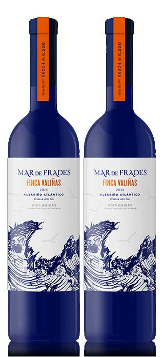 Mar de Frades 2er Set Finca Valinas 0,75L (12,5% Vol)2x Weißwein Rebsorten: 100% Albariño- [Enthält Sulfite]