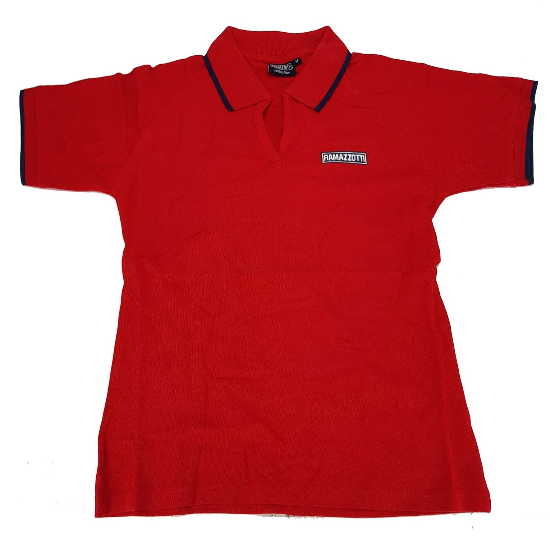 Ramazzotti Poloshirt Polo Shirt Hemd T-Shirt 100% Baumwolle - Rot Größe S