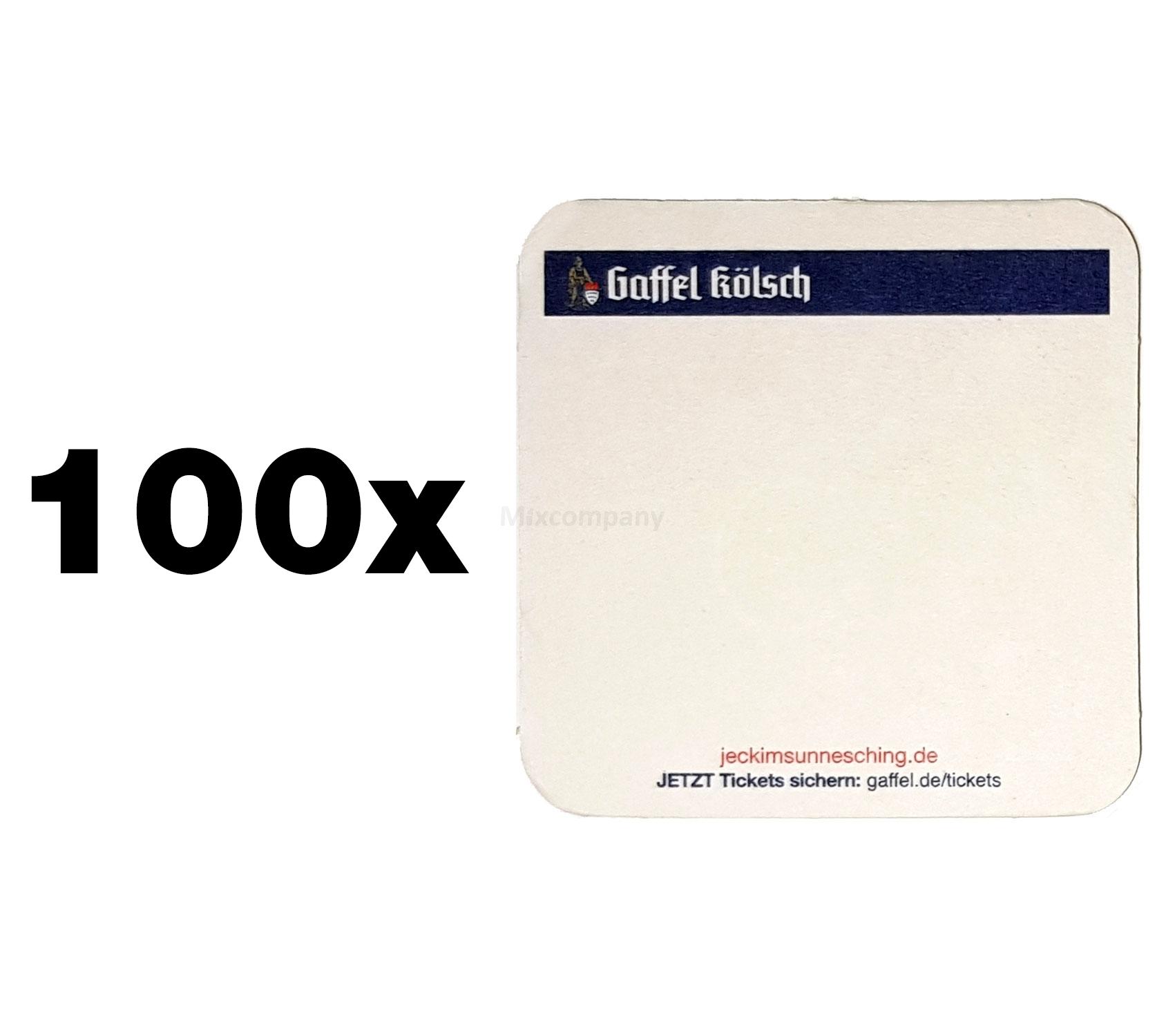 Gaffel Kölsch Bierdeckel / Untersetzer - 100 Stück
