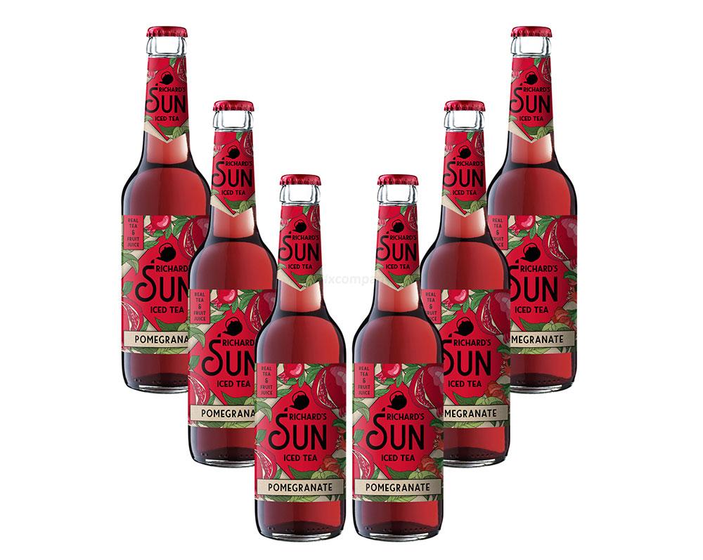 Richards Sun Iced Tea - 6er Set Eistee Pomegranate - 6x 0,33L inkl. Pfand MEHRWEG