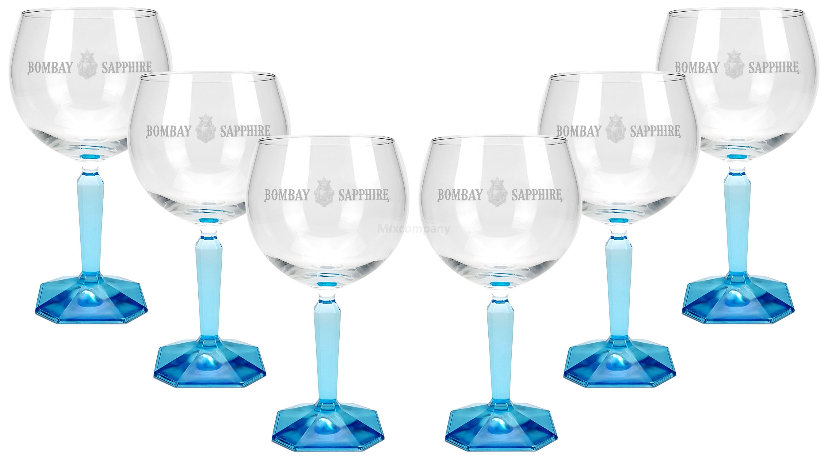Bombay Sapphire Ballon Cocktail Glas Gläser - 6er Set