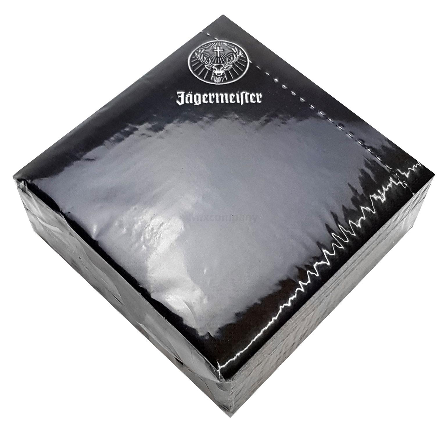 Jägermeister Servietten Cocktailservietten - Maße 12x12cm - 24x24cm (offen)