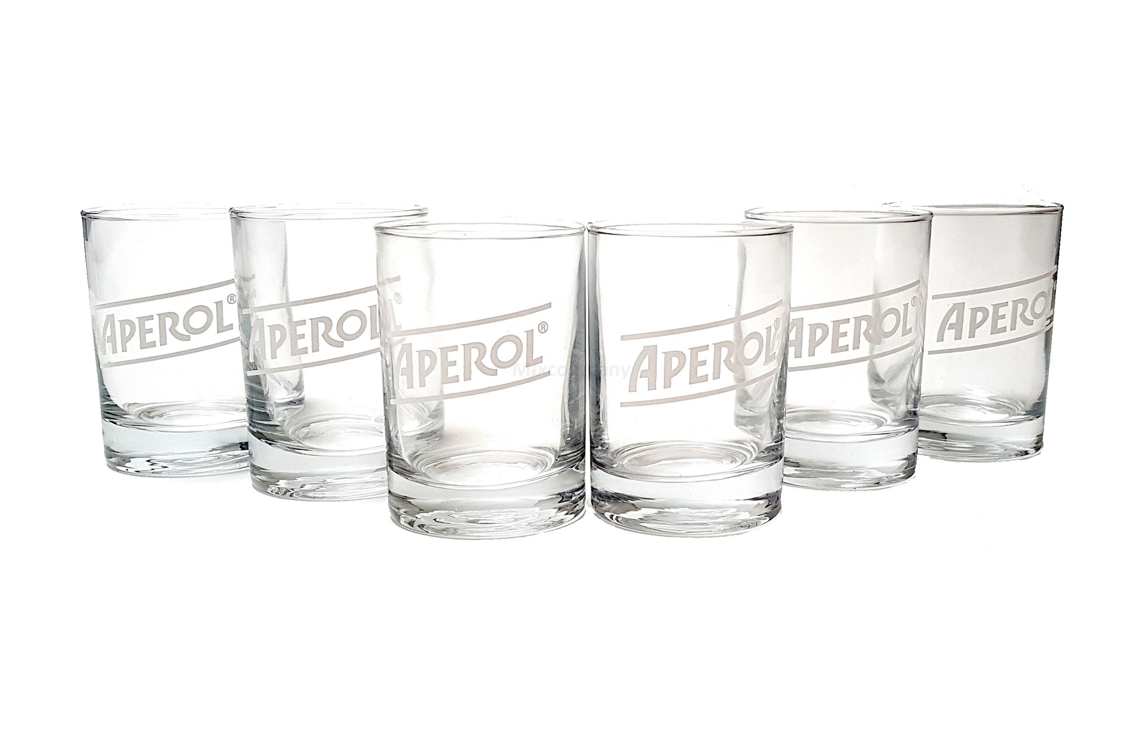 Aperol Gläser Set T-Licht Glas - 6x Stück