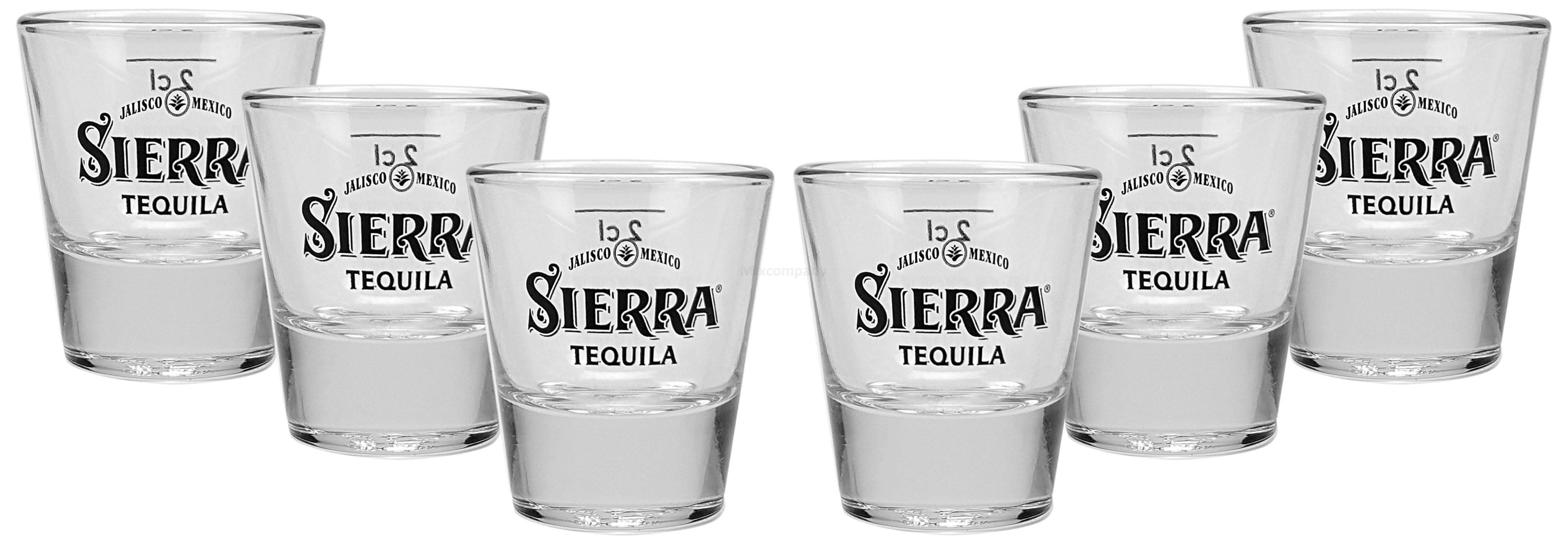 Sierra Tequila Shotglas Shotgläser Glas Gläser 2cl geeicht - 6er Set