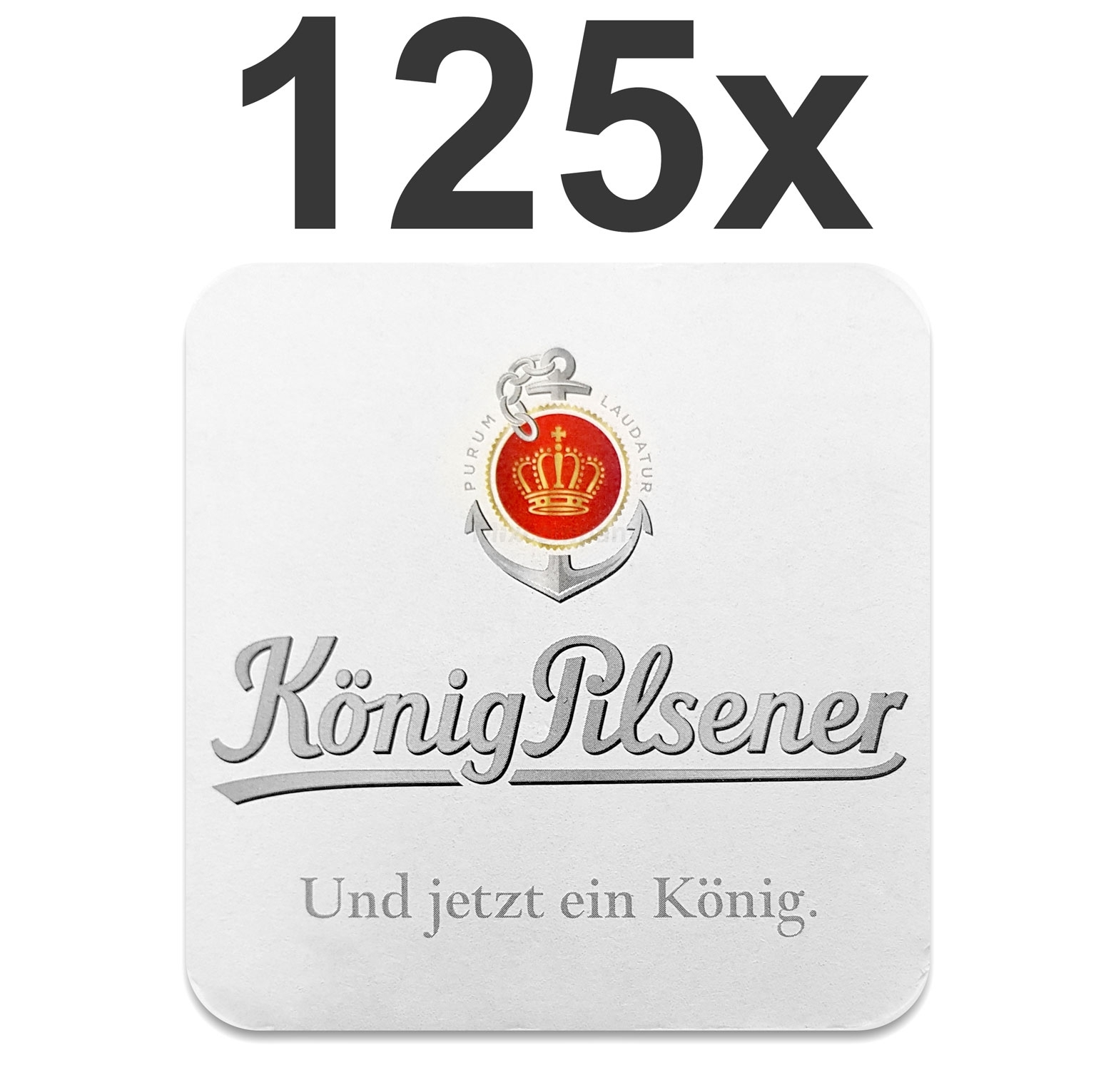 König Pilsener Bierdeckel Untersetzer Bierfilz - 125er Packung