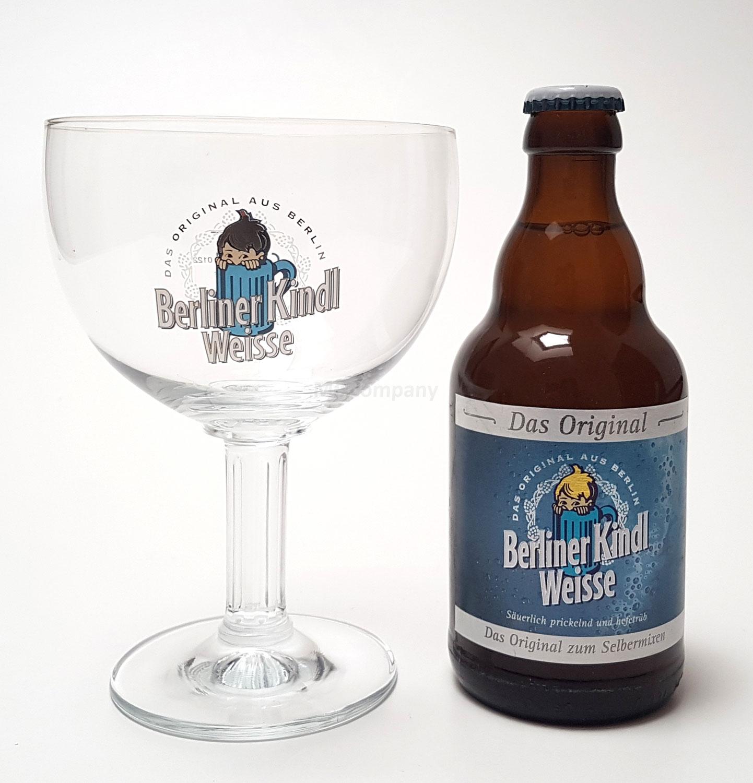 Berliner Kindl Weisse Bier 0,33L (3% Vol) + Pokalglas 0,3L - Inkl. Pfand MEHRWEG