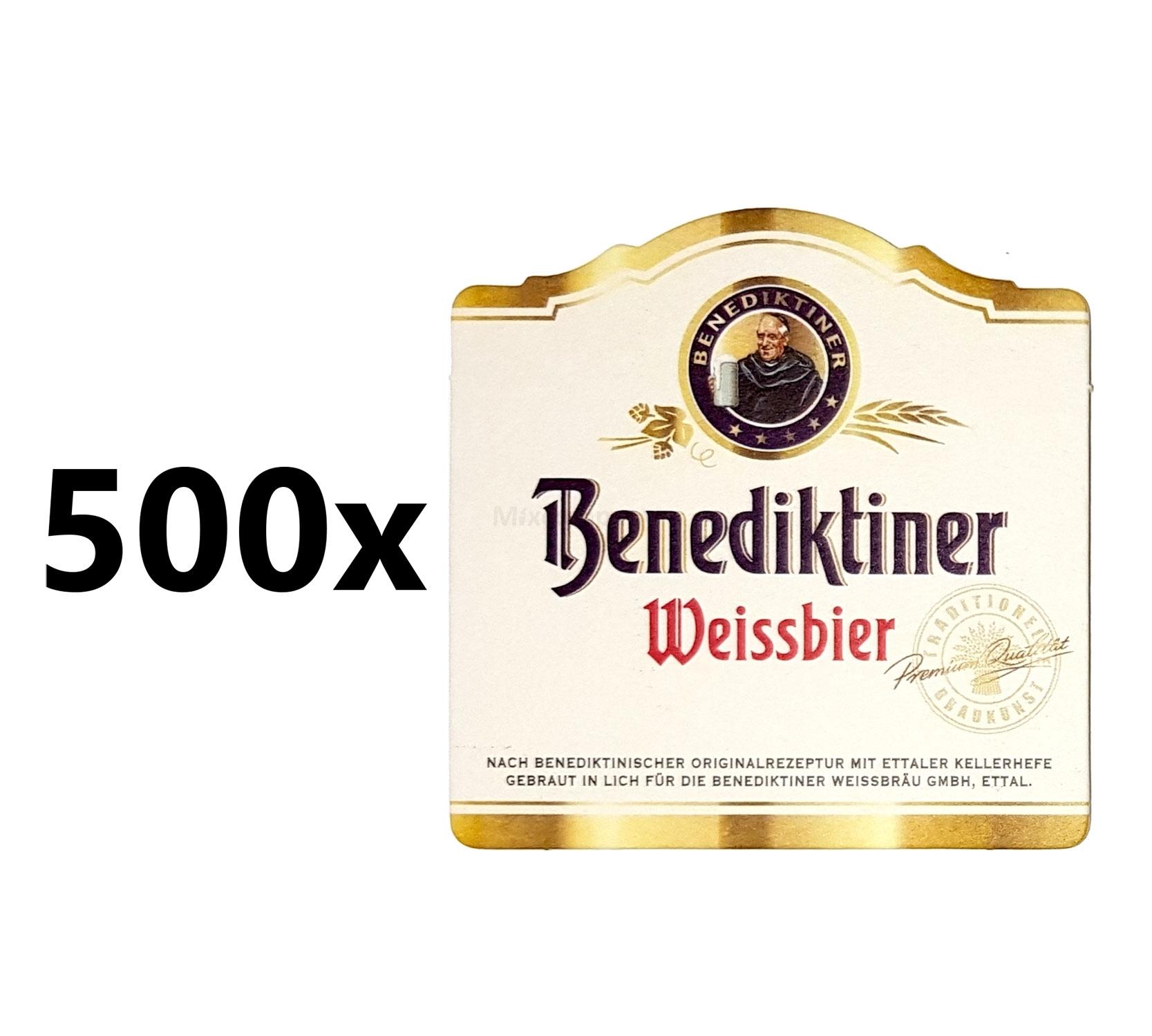 Benediktiner Weissbier Bierdeckel / Untersetzer - 500 Stück