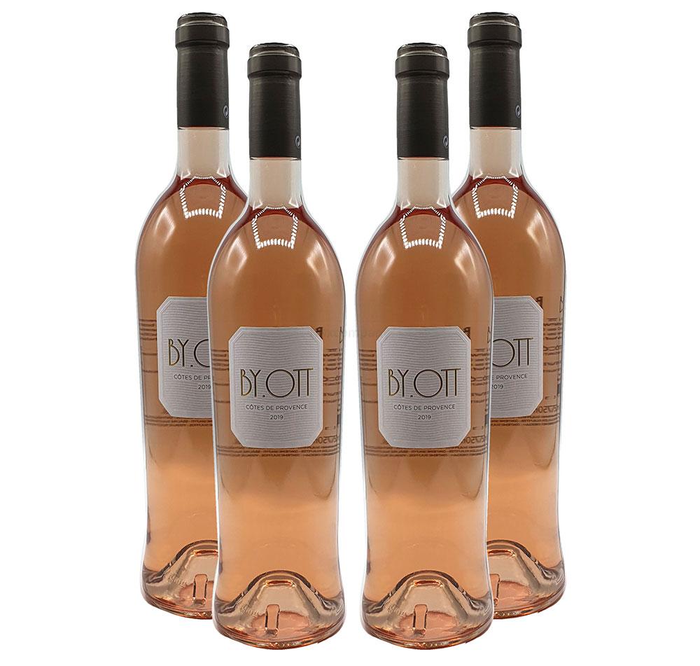 By. Ott - 4x Rose Wein - 4er Set Rosé Cotes des Provence - 4x 750ml (13,5% Vol)- [Enthält Sulfite]