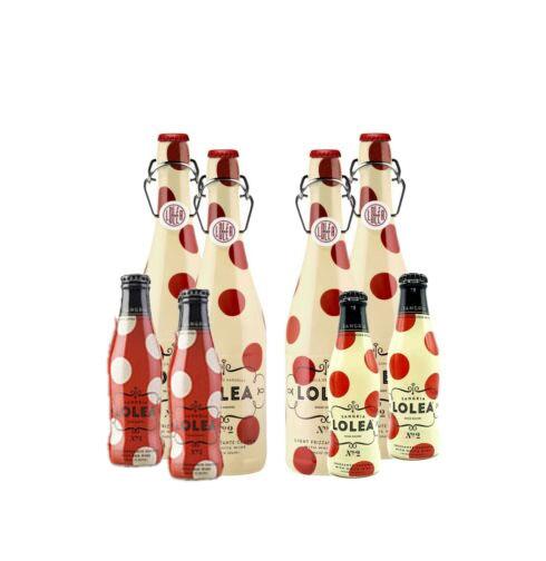 Lolea 4er Set Sangria N°2 WEIß 0,75L (7% Vol) 4x Weißwein Sangria Chardonnay + 4 Minis GRATIS 2x ROT 0,2L (7% Vol) 2x WEIß 0,2L (7% Vol) - [Enthält Sulfite]