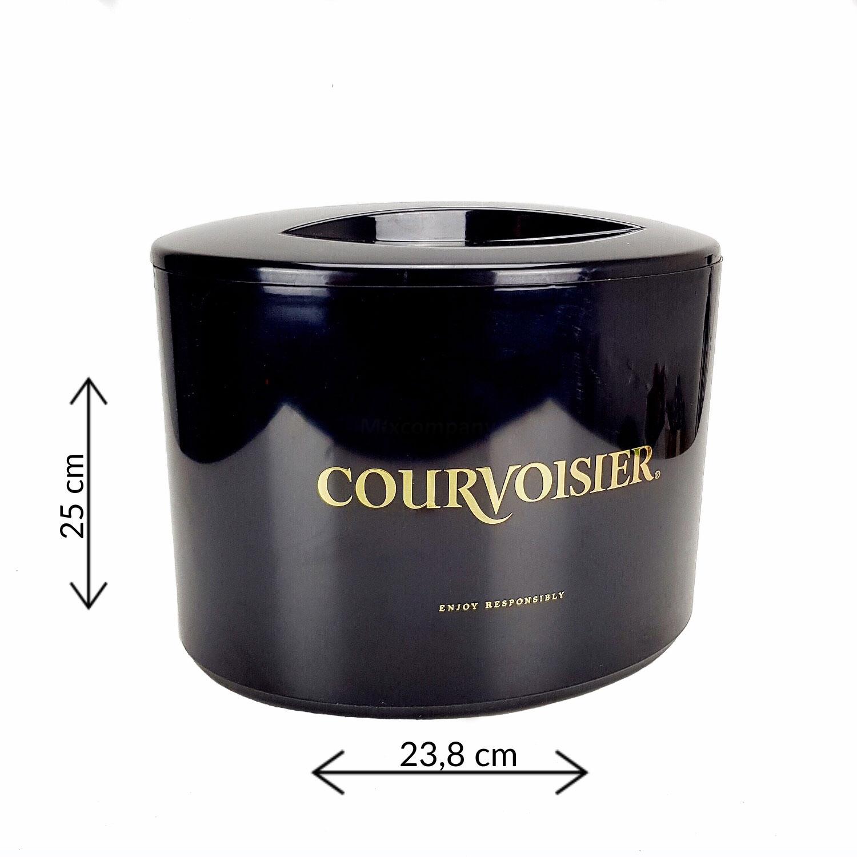 Courvoisier Flaschenkühler Eiskühler Getränkekühler Bar mit Deckel in schwarz