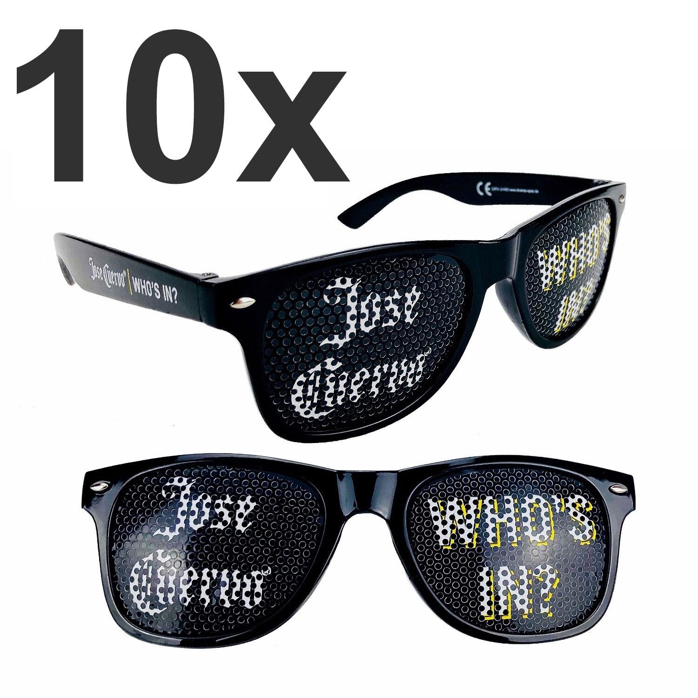 Jose Cuervo who s In Sonnenbrille Partybrille Nerd Brille Aktion - 10 Stück