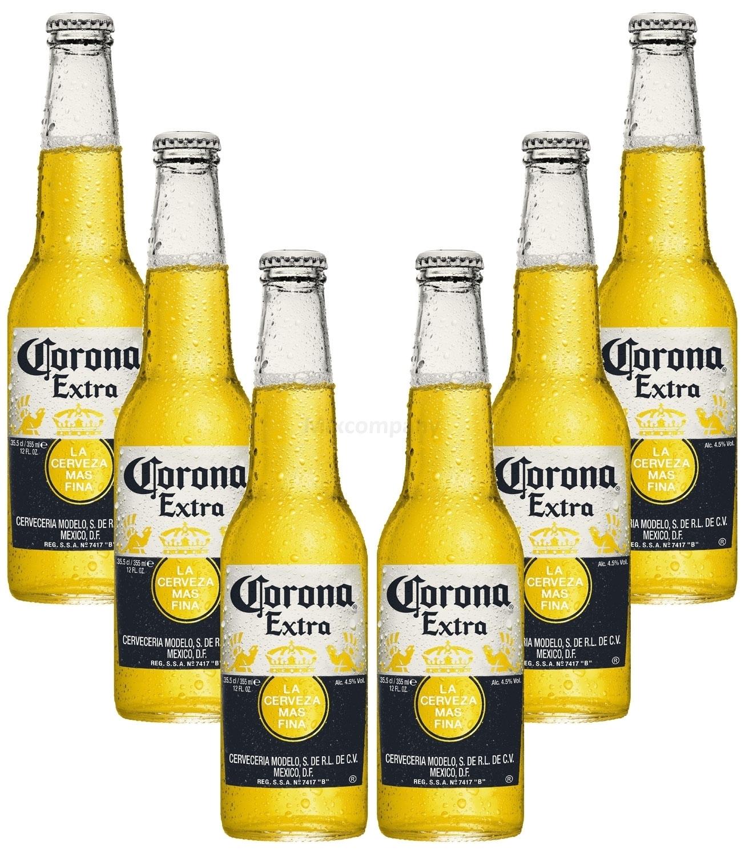 Corona Extra Mexikanisches Bier inkl. Pfand - 6x 355ml (4,5% Vol) -[Enthält Sulfite] - Inkl. Pfand MEHRWEG