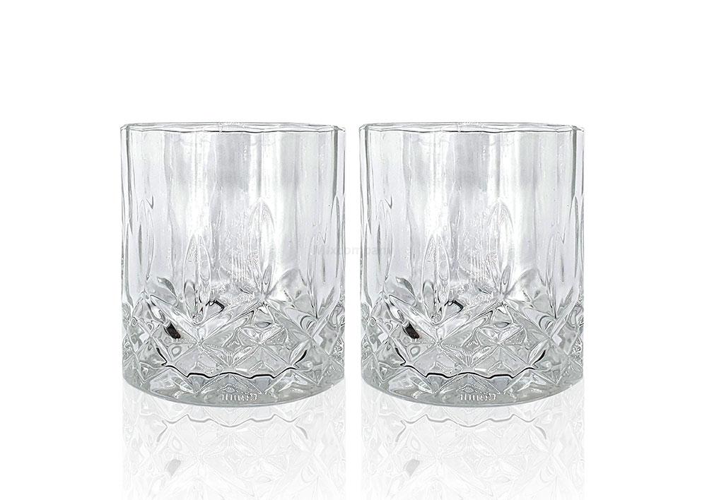 Mixcompany Tumbler Glas / 2er Gläser Set - 2x Whisky Tumbler / Kristall Design Whiskey Glas