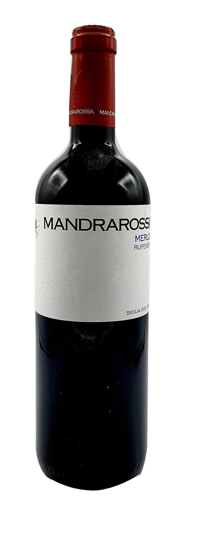 Mandrarossa Rotwein 0,75L (13,5% Vol) - Merlot Rupenera - Italien - [Enthält Sulfite]
