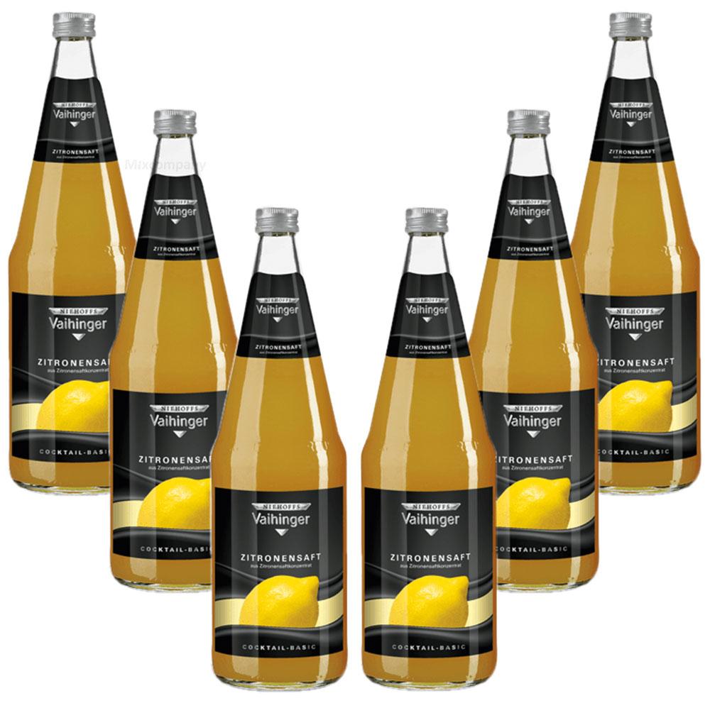 Niehoffs Vaihinger Zitronensaft 1L VDF - 6er Set inkl. Pfand MEHRWEG