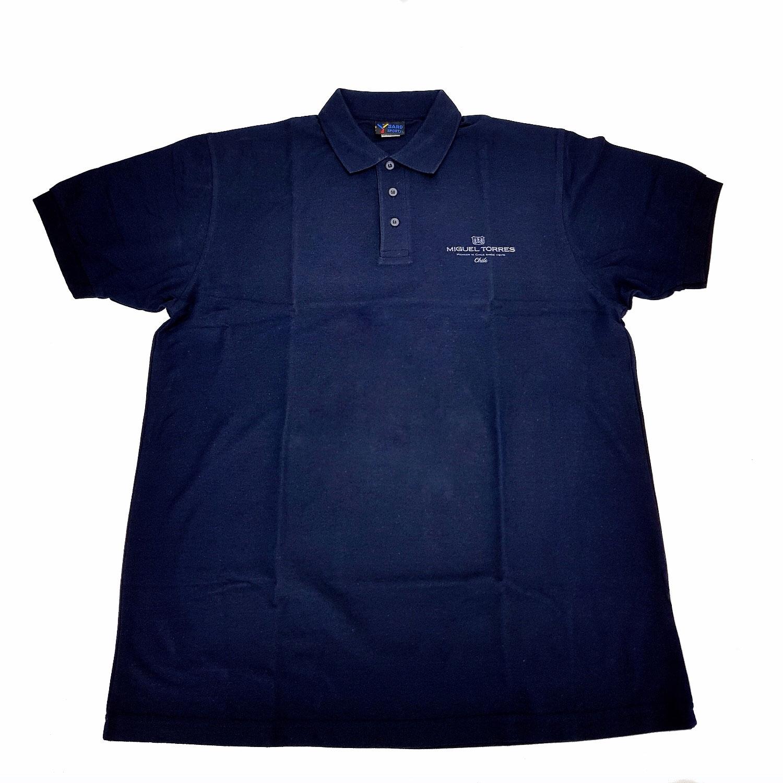 Miguel Torres Chile Polohemd Poloshirt T-Shirt dunkel blau - Größe XL (65 Poly. / 35 Algodon)
