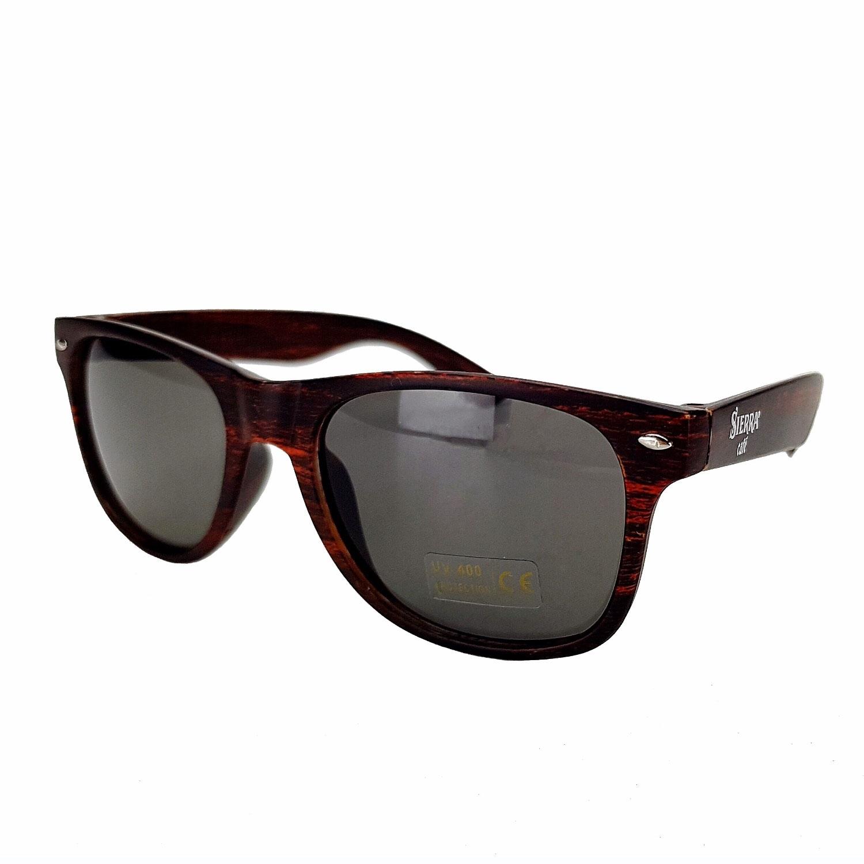 Sierra Cafe Sonnenbrille Nerd Brille mit UV 400 Schutz - braun