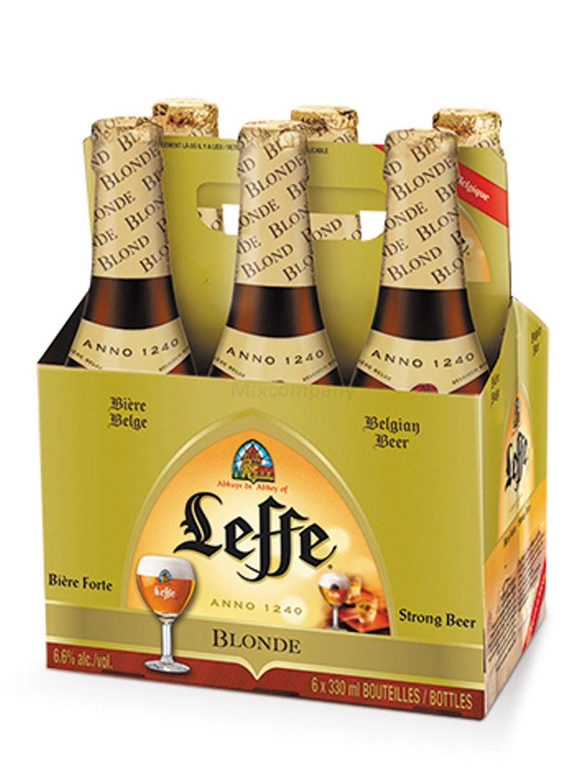 Leffe Blond belgisches Abtei stark Bier Six Pack - 6x 330ml (6,6% Vol) -[Enthält Sulfite] - Inkl. Pfand MEHRWEG