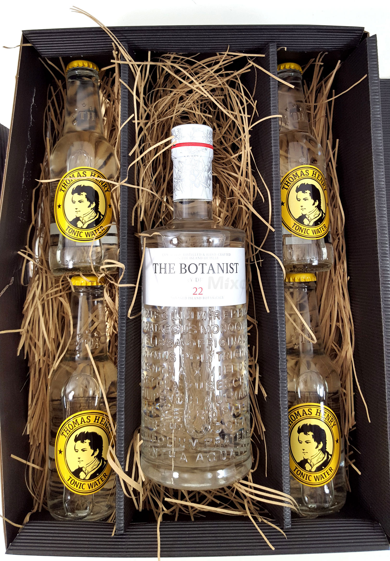 Gin Tonic Set / Geschenkset - The Botanist Islay Dry Gin 0,7l 700ml (46% Vol) + 4x Thomas Henry Tonic Water 200ml - Inkl. Pfand MEHRWEG