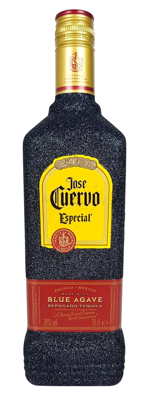 Jose Cuervo Tequila Reposado Especial 0,7l 700ml (38% Vol) Bling Bling Glitzerflasche in schwarz -[Enthält Sulfite]