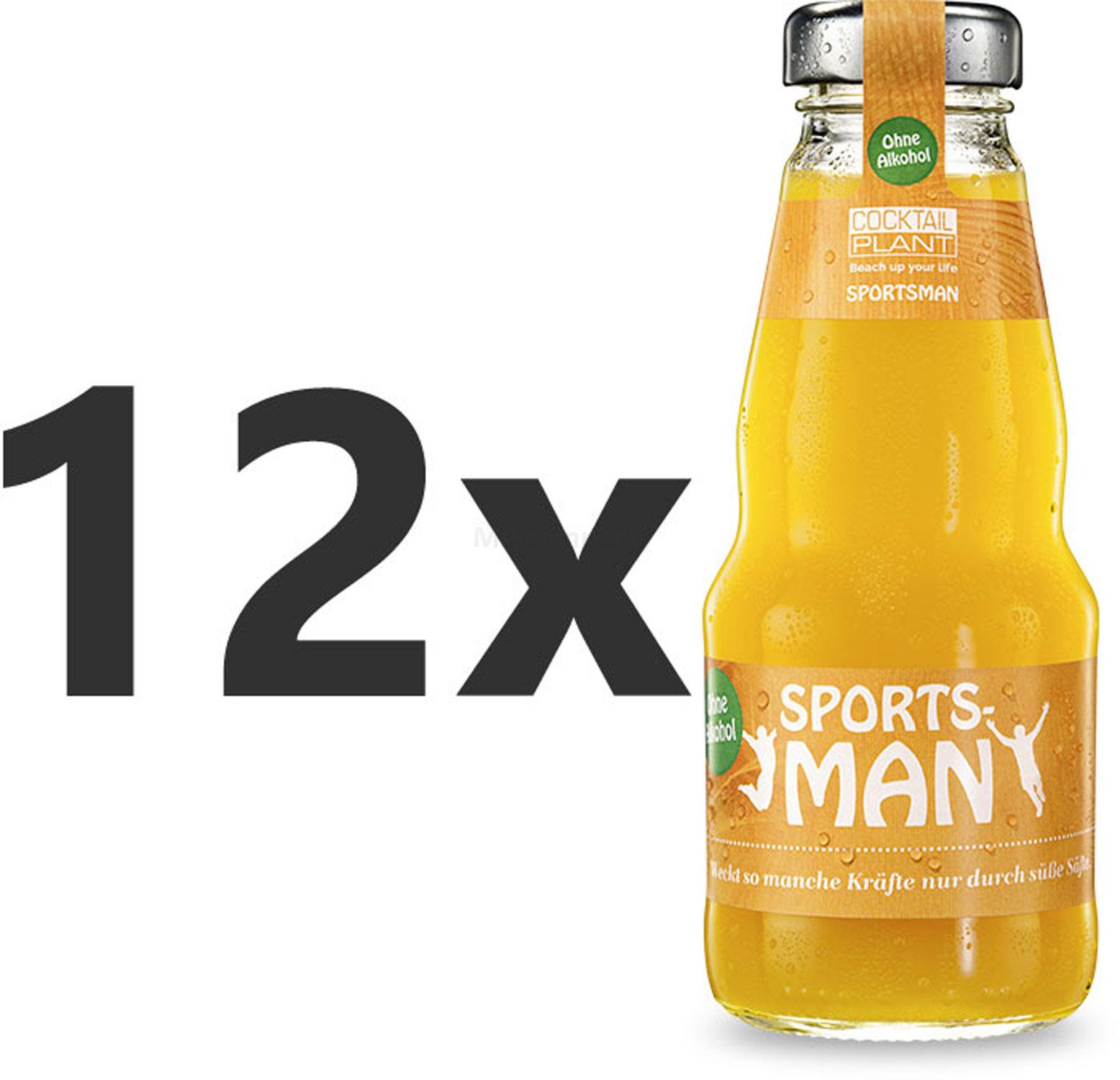 Cocktail Plant Sportsman Alkoholfrei 12x 0,2l = 2,4l - inkl. Pfand MEHRWEG