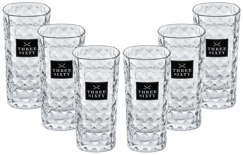 Three Sixty Gläser-Set - 6x Vodka Gläser eckig 0,3L