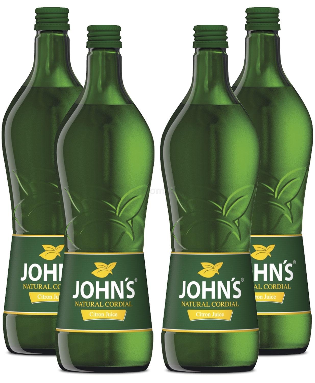 Johns Citron Juice Sirup für Cocktails 4x 0,7l = 2,8 Liter
