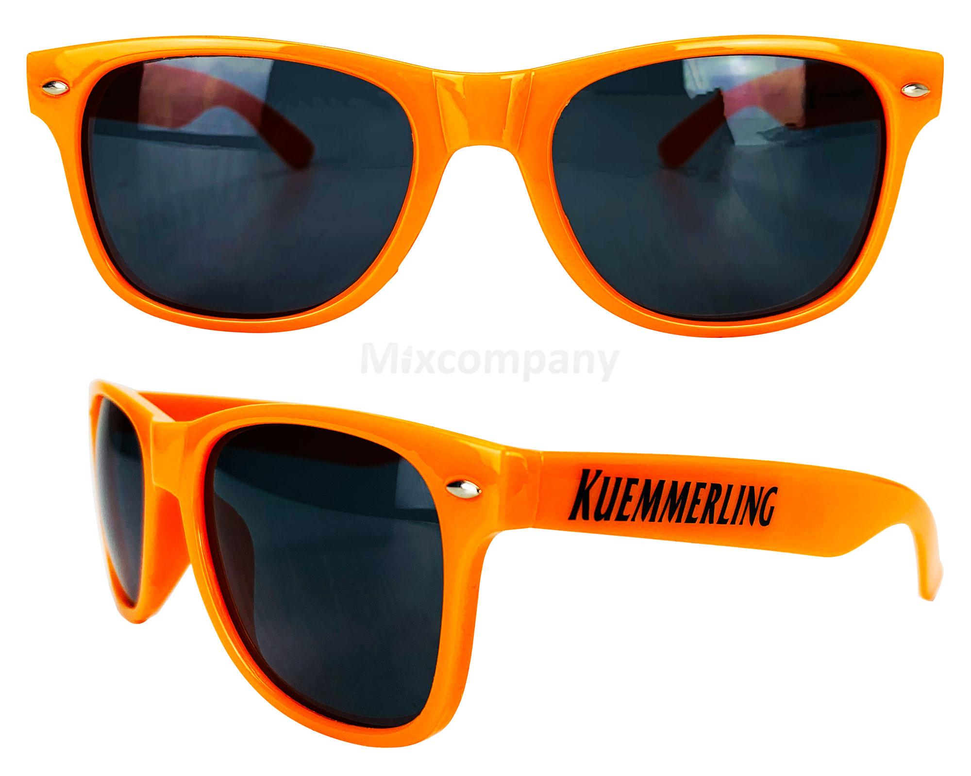 Kuemmerling Nerd Sonnenbrille orange UV400 Unisex Retro Vintage Style Party Festival Bar