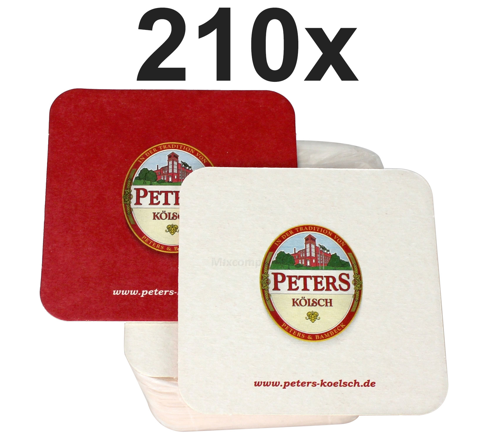 Peters Kölsch Bierdeckel Untersetzer Aktion - 210 Stück (3x 70er Packung)