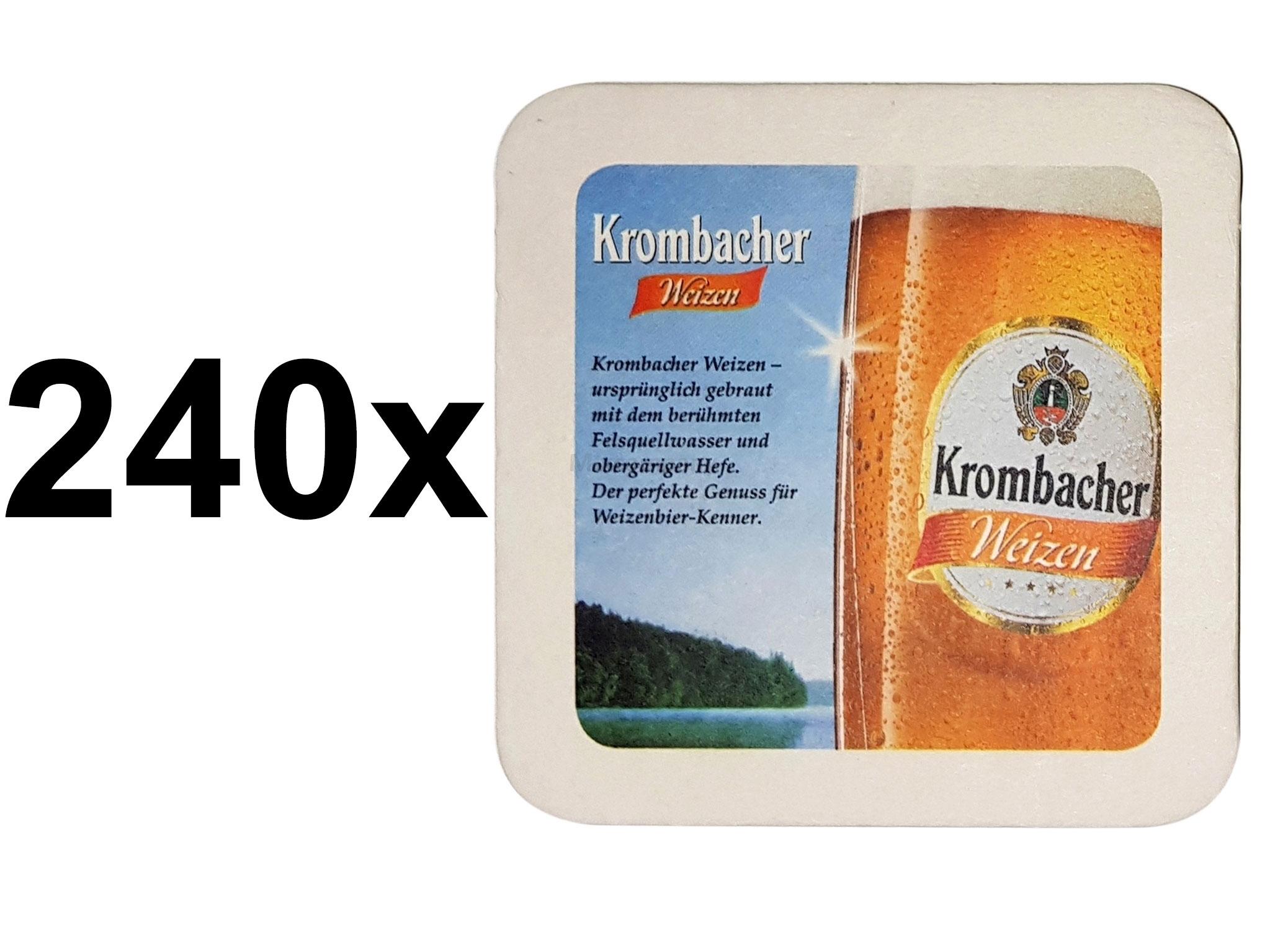 Krombacher Weizen Bierdeckel Untersetzer Unterlage Pappdeckel Bierfilz Aktion - 240 Stück (3x 80er Packung)