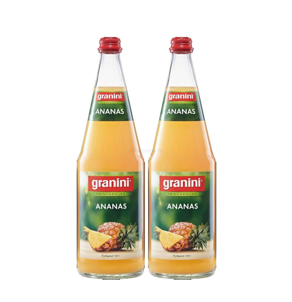 Granini Ananas Saft - 2er Set Granini Trinkgenuss - 2x Ananas 1L Saft inkl. Pfand MEHRWEG