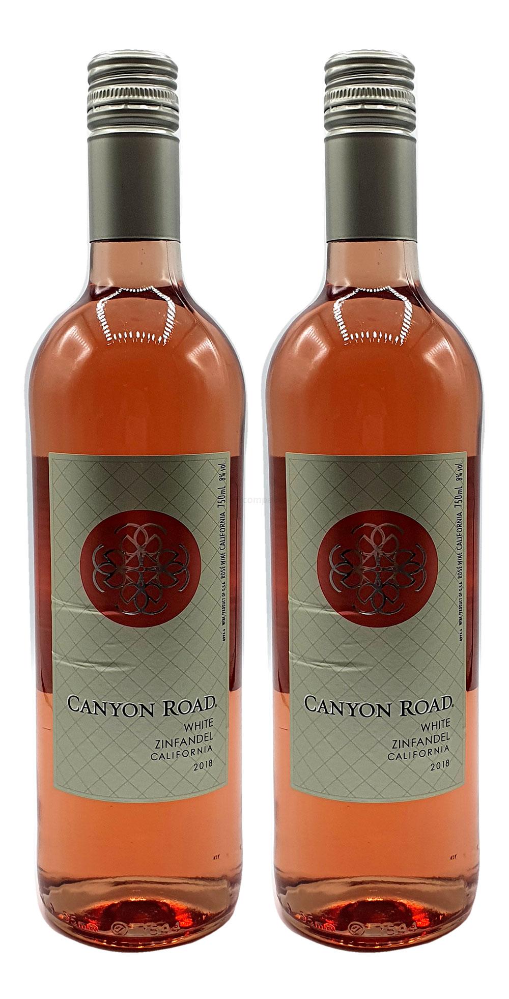 Rose Wein Set - 2x Canyon Road Zinfandel 750ml (8% Vol)- [Enthält Sulfite]