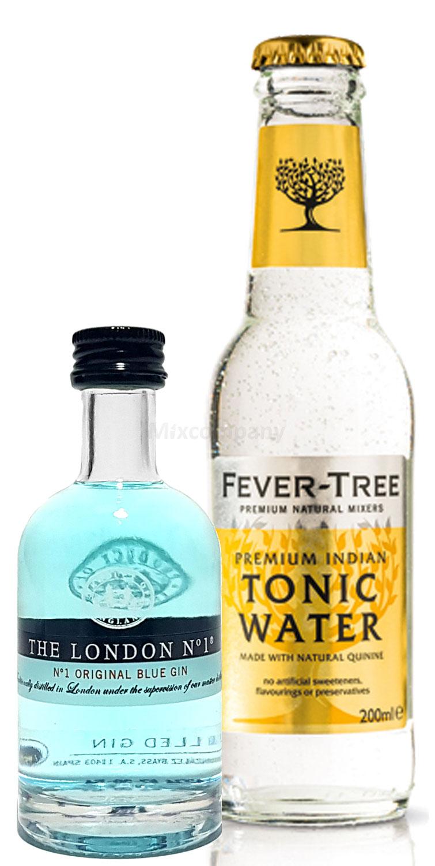 Gin Tonic Probierset - The London N1 Blue Gin 50ml (47% Vol)+ Fever-Tree Tonic Water 200ml inkl. Pfand MEHRWEG