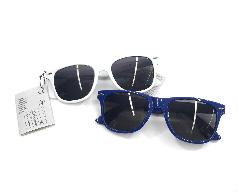 Sion Kölsch Sonnenbrille Nerd style blau & weiß - UV400 Klasse 3