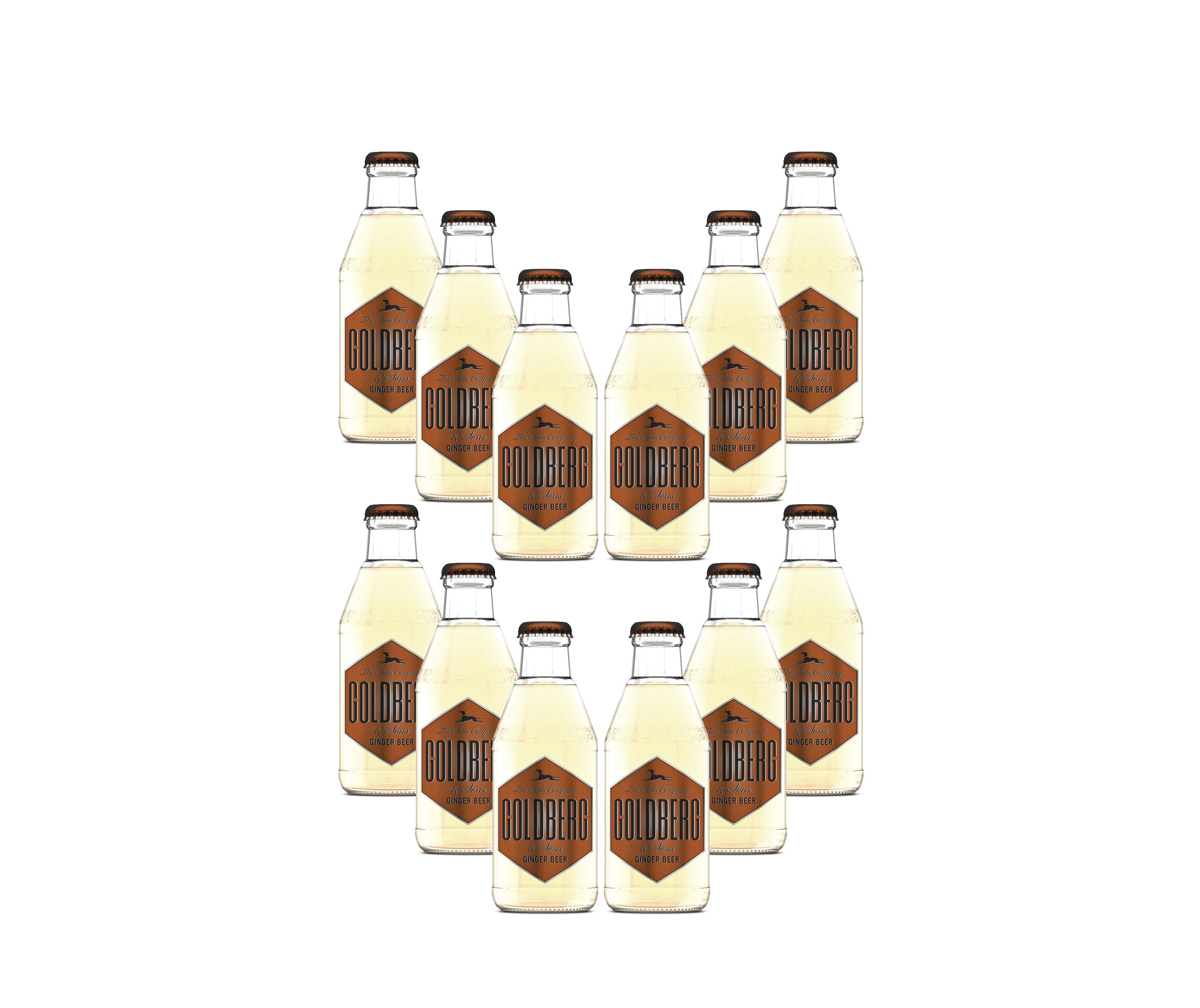 Goldberg Ginger Beer 12er Set - 12x200ml inkl. Pfand MEHRWEG