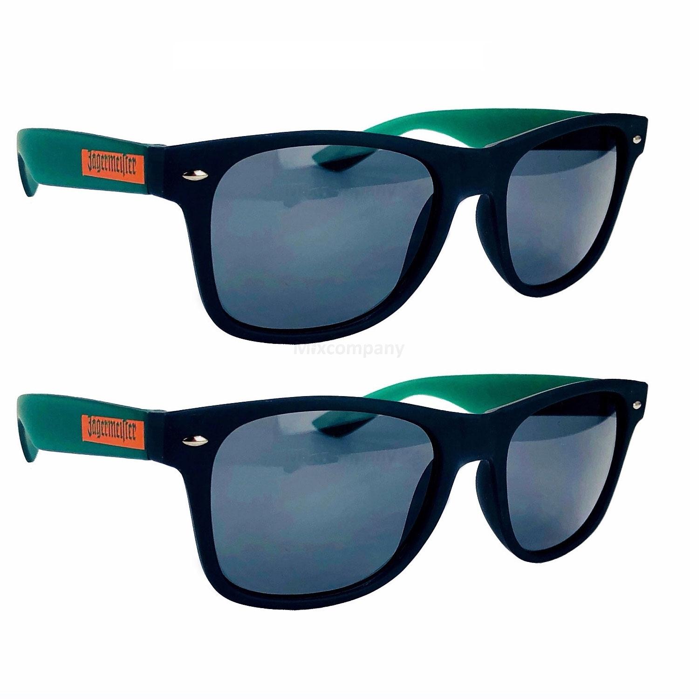 Jägermeister Sonnenbrille Nerd-, Party-, Brille in schwarz grün Aktion - 2 Stück